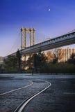 Πόλη της Νέας Υόρκης γεφυρών του Μανχάταν στοκ φωτογραφίες