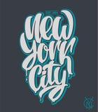 Πόλη της Νέας Υόρκης, γραπτή χέρι φράση σχεδίου εγγραφής Στοκ Εικόνες
