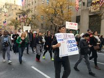 Πόλη της Νέας Υόρκης  Διαμαρτυρία ατού στοκ φωτογραφίες με δικαίωμα ελεύθερης χρήσης
