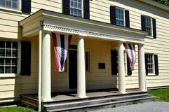 Πόλη της Νέας Υόρκης: Είσοδος στο σπίτι βασιλιάδων 1750 Rufus Στοκ Εικόνα