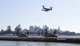 Πόλη της Νέας Υόρκης, ΗΠΑ MV-22 Osprey Στοκ Εικόνες