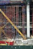Πόλη της Νέας Υόρκης: οικοδόμηση κτηρίου πολυόροφων κτιρίων Στοκ φωτογραφίες με δικαίωμα ελεύθερης χρήσης