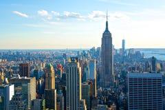 Πόλη της Νέας Υόρκης οριζόντων με το Εmpire State Building Στοκ εικόνα με δικαίωμα ελεύθερης χρήσης