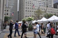 Πόλη της Νέας Υόρκης, στις 3 Αυγούστου: Αγορά σφονδύλων στο Rockefeller Plaza στο Μανχάταν στην πόλη της Νέας Υόρκης Στοκ εικόνες με δικαίωμα ελεύθερης χρήσης
