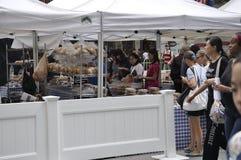 Πόλη της Νέας Υόρκης, στις 3 Αυγούστου: Αγορά σφονδύλων στο Rockefeller Plaza στο Μανχάταν στην πόλη της Νέας Υόρκης Στοκ φωτογραφίες με δικαίωμα ελεύθερης χρήσης