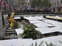 Πόλη της Νέας Υόρκης, στις 3 Αυγούστου: Η αίθουσα παγοδρομίας από Rockefeller Plaza στο Μανχάταν στην πόλη της Νέας Υόρκης Στοκ Εικόνα