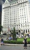 Πόλη της Νέας Υόρκης, στις 2 Αυγούστου: Κτήριο ξενοδοχείων Plaza από το Μανχάταν στη Νέα Υόρκη Στοκ φωτογραφίες με δικαίωμα ελεύθερης χρήσης