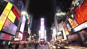 Πόλη της Νέας Υόρκης τη νύχτα απόθεμα βίντεο