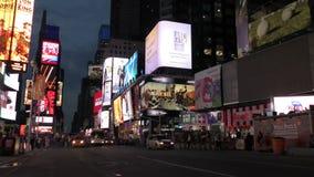 Πόλη της Νέας Υόρκης τη νύχτα 4K απόθεμα βίντεο