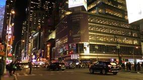 Πόλη της Νέας Υόρκης τη νύχτα 4K φιλμ μικρού μήκους