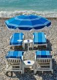 Πόλη της Νίκαιας - παραλία με την ομπρέλα Στοκ Εικόνες