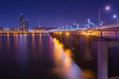 Πόλη της Σεούλ και γέφυρα και ποταμός Han, πύργος ν Σεούλ Στοκ εικόνες με δικαίωμα ελεύθερης χρήσης
