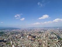 Πόλη της Ταϊπέι από τη τοπ άποψη Στοκ Εικόνα