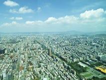 Πόλη της Ταϊπέι από τη τοπ άποψη Στοκ εικόνα με δικαίωμα ελεύθερης χρήσης