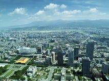 Πόλη της Ταϊπέι από τη τοπ άποψη Στοκ Εικόνες