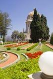 Πόλη της Χάιφα στο Ισραήλ από τον κήπο Bahai, της άποψης στη θάλασσα και του χ Στοκ Φωτογραφία