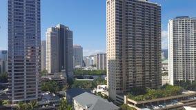 Πόλη της Χαβάης Waikiki scape Στοκ φωτογραφίες με δικαίωμα ελεύθερης χρήσης