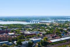 Πόλη της Samara, Ρωσία, άποψη από το ύψος στην πόλη στοκ εικόνες