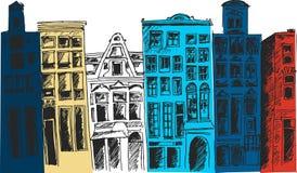 Πόλη του Άμστερνταμ επίσης corel σύρετε το διάνυσμα απεικόνισης Στοκ Φωτογραφία