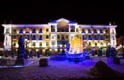 Πόλη του Γκρόζνυ τη νύχτα Στοκ εικόνα με δικαίωμα ελεύθερης χρήσης