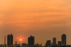 Πόλη του ηλιοβασιλέματος Στοκ Εικόνες