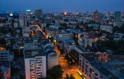 Πόλη του Κίεβου νύχτας, Ουκρανία Στοκ Εικόνες
