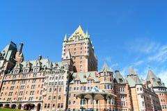 Ξενοδοχείο Frontenac πύργων στην πόλη του Κεμπέκ, Καναδάς Στοκ Εικόνα