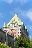 Ξενοδοχείο Frontenac πύργων στην πόλη του Κεμπέκ, Καναδάς Στοκ Εικόνες