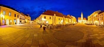 Πόλη του κεντρικού τετραγωνικού πανοράματος Varazdin στοκ εικόνες
