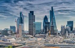 Πόλη του Λονδίνου Σύγχρονος ορίζοντας του εμπορικού κέντρου στοκ εικόνες με δικαίωμα ελεύθερης χρήσης