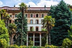Πόλη του Μπελάτζιο στη λίμνη Como, Ιταλία Περιοχή της Λομβαρδίας Ιταλική εικονική παράσταση πόλης, ευρωπαϊκό arhitecture Στοκ φωτογραφία με δικαίωμα ελεύθερης χρήσης
