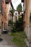 Πόλη του Μπελάτζιο στη λίμνη Como, Ιταλία Περιοχή της Λομβαρδίας Ιταλική οδός, ευρωπαϊκό arhitecture Στοκ εικόνες με δικαίωμα ελεύθερης χρήσης