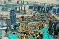 Πόλη του Ντουμπάι, άποψη από την κορυφή στεγών Στοκ φωτογραφίες με δικαίωμα ελεύθερης χρήσης