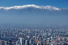 Πόλη του Σαντιάγο, πρωτεύουσα της Χιλής. Στοκ Φωτογραφίες