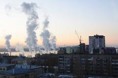 Πόλη του Σαράτοβ στα ξημερώματα Στοκ εικόνες με δικαίωμα ελεύθερης χρήσης