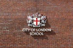 Πόλη του σχολικού σημαδιού του Λονδίνου Στοκ εικόνα με δικαίωμα ελεύθερης χρήσης