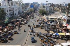 Πόλη του Hyderabad κοντά στη γοητεία του μνημείου Στοκ εικόνες με δικαίωμα ελεύθερης χρήσης