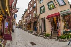 Πόλη του Petit-Champlain Κεμπέκ στοκ φωτογραφίες