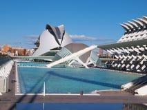 Πόλη των τεχνών και των επιστημών (ciencias Ciudad de las artes Υ las) στη Βαλένθια, Ισπανία Στοκ φωτογραφία με δικαίωμα ελεύθερης χρήσης