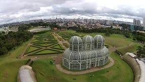 Πόλη των curitiba-δημόσιων σχέσεων - βοτανικός κήπος απόθεμα βίντεο