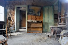 Πόλη-φάντασμα πυρετού χρυσοθηρίας - σώμα Καλιφόρνια Στοκ Φωτογραφία