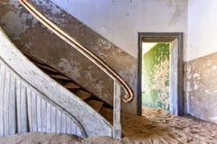 Πόλη-φάντασμα Kolmanskop, Ναμίμπια Στοκ Εικόνες