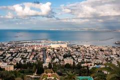 Πόλη Χάιφα πανοράματος Ισραήλ στοκ φωτογραφία με δικαίωμα ελεύθερης χρήσης