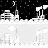 Πόλη χιονιού Στοκ Φωτογραφίες