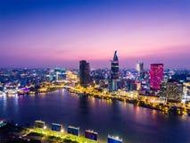 Πόλη Χο Τσι Μινχ Βιετνάμ Saigon Στοκ Φωτογραφίες