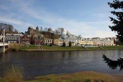 Πόλη όμορφο παλαιό κτήριο άποψης †«στην προκυμαία σε GR Στοκ Εικόνες