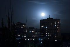 Πόλη Abovyan στη νύχτα Στοκ Εικόνα
