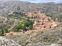 Πόλη AlbarracÃn Στοκ Εικόνα