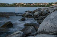 Πόλη Arbatax, Σαρδηνία, Ιταλία Στοκ Εικόνες