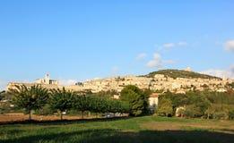 Πόλη Assisi στην Ουμβρία, Ιταλία Στοκ φωτογραφία με δικαίωμα ελεύθερης χρήσης
